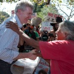 Tony Burke was presented with a photograph of James Price Point