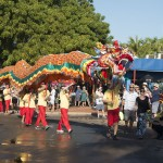 Sammy the dragon at 2015 Shinju Parade