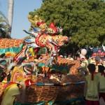 Sammy the dragon coiling at 2015 Shinju Parade