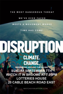 disruption climate change poster