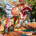 Sammy the dragon at 2018 Shinju Parade