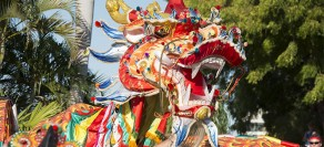 Sammy the Dragon at Shinju Float Parade